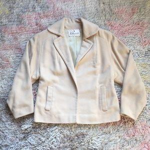 Rothschild's vintage silk/cashmere cream coat